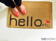Give your guests an automatic smile with these awesome do-it-yourself welcome mats.