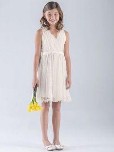 ivory flower girl dress