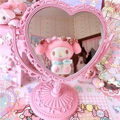 Pastel Room, Pink Room, Pastel Pink, Cute Pink, Pretty In Pink, Kawaii Pens, Kawaii Makeup, Kawaii Stuff, Hello Kitty Rooms