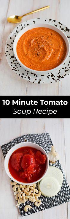 10 minute creamy tomato soup (dairy-free!)