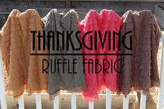 Fall Ruffle Fabric by the Yard LOTS of Colors by ashleyNEF on Etsy, $14.50