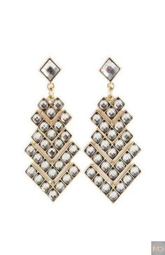 Fashion Jewelry White Stone Dangle Golden Multilayered Earrings