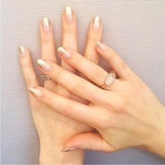 Matching your manicure to your engagement ring will give a fun, cohesive effect and will totally stand out. Engagement Nails, Engagement Ring Styles, Rose Gold Engagement Ring, Bride Nails, Wedding Nails, Wedding Rings, Beach Hairstyles For Long Hair, Cool Hairstyles, Glam Nails