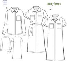 Svenska Mönster - Klänningar / tunikor Swedish Sewing, Sewing Patterns, Patron De Couture, Dress Patterns
