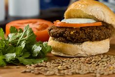 Lentil Burgers from Dr. Oz's website - suitable for Dr. Oz's 2 Week Rapid Weight Loss Diet (without egg) 2 week diet dr oz Tempeh Burger, Lentil Burgers, Veggie Burgers, Burger Recipes, Diet Recipes, Cooking Recipes, Healthy Recipes, Healthy Foods, Healthy Protein