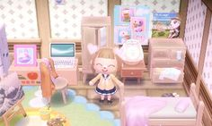 animal crossing new leaf room Animal Crossing Qr Codes, Animal Crossing Pocket Camp, Girls Bedroom, Girl Nursery, Animal Games, My Animal, Animal Room, Kingdom Hearts, Deco Gamer
