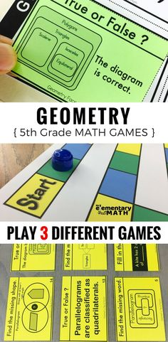 Geometry games for your 5th grade students are a fun alternative to worksheets. Check out these 3 math games that are great for your 5th grade math centers.