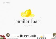 Watercolor Lemon Logo Design, Creative Professional Branding by The Paris Studio, Madame Levasseur