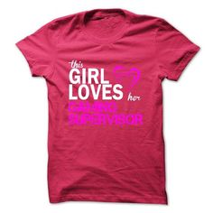 Cool This girl loves her GAMING SUPERVISOR Shirts & Tees