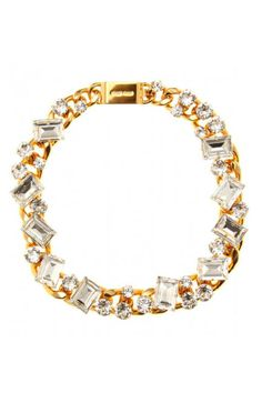 Miu Miu Crystal Bead Embellished Statement Necklace