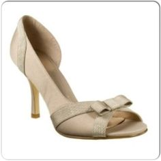 ⚡️High Heels ⚡️Satin Peep-Toe Pumps in a classic neutral (champagne/taupe) shade. Perfect for weddings! Worn once but discoloration on the inside of the shoe (mainly at the inner heel areas). Refer to pics - not seen when worn. I've try to capture it to the best of my ability. Questions welcome and additional pictures available upon request. Sold as-is. mossimo Shoes Heels