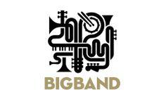 Big Band by Jose Guizar Gypsy Jazz, Typo Logo, Logo Branding, Typography, Logo Studio, Band Logo Design, Big Band Jazz, Jazz Poster, Clever Logo