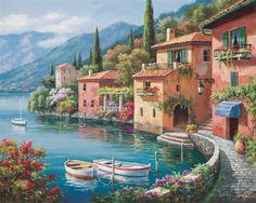 Pinturas que me gustan: casas y paisajes
