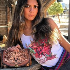 Give me that old time religion. @rivi_lover holding Bandolero. From my Bandidas collection. These bags have a spaghetti western 60's flare. Please follow my IG/FB account @hags_and_hides 👈Currently the only way to place an order is by PM. Happy