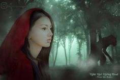 "Little Red Riding Hood - Enter The Forest (anime realism) . ""If the innocent are unjust, I'd rather be counted among the guilty."" . ----   Digital Art By : Me In Frame : @rianaagistta  #werewolf #wolf #forest #hood #girl #red #green #complementary #manipulation #dark #cosplay #anime #duality #contest #deviantart #instagram #tumblr #photography #art #retouchmyphoto #photooftheday #model #design #fog #beauty #style #fashion #instalike #innocent"