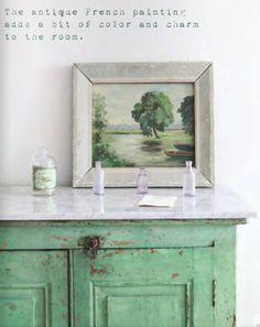 trinity of green, white, gray