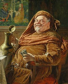 Falstaffian | Pronunciation: (fal-STAF-ee-uhn)   | Meaning: adjective: Fat, jolly, and convivial. | Etymology: After Sir John Falstaff, a character in Shakespeare's plays Henry IV (parts 1 & 2) and The Merry Wives of Windsor. Earliest documented use: 1809.