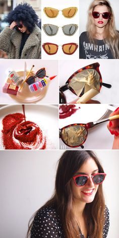 Miu Miu Sparkly Sunglasses | 26 Designer Knock-Off DIYs That Cost Way Less Than The Real Thing
