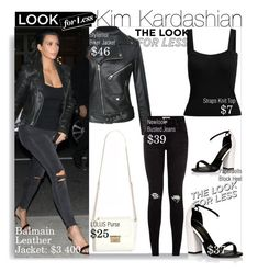 """""""Look for Less with Kim Kardashian..."""" by nfabjoy ❤ liked on Polyvore featuring Lipsy, LookForLess, kimkardashian and CelebrityStyle"""