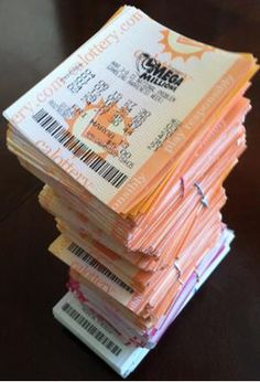 The World's Tallest Stack of Free Lottery Tickets!