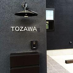 Exterior Signage, Interior And Exterior, Interior Design Living Room, Interior Decorating, Home Porch, Sign Lighting, Signage Design, Room Signs, Shop Interiors