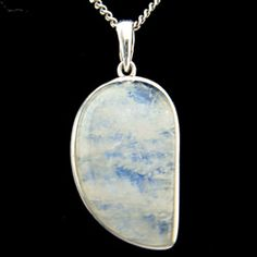 Moonstone & Silver Pendant - Freeform Drop 33mm - buy now at http://www.crystalage.com/online_store/moonstone-and-silver-pendant-freeform-drop-33mm1407615891.cfm