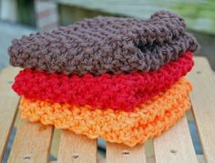 LOVE these knit washcloths