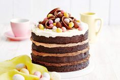 Impress your family and friendly with this spectacular triple-choc, Nutella celebration cake.