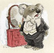 a koala, by Wallace Tripp, illustrator [www.wallacetripp.com]