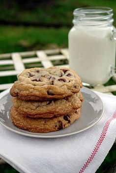 large choc chip cookies: check out the recipe on the blog 'K Bakes'