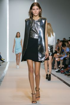 A look from the Mugler Spring 2015 RTW collection.