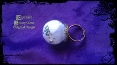 Angel Ring  With crown base and glass bubble by EmeraldInceptions, $25.00