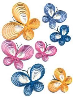 PC Quilled Butterflies