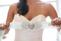 The bride wore this Stormtrooper-inspired belt to the reception.