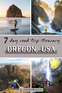 Take an incredible Oregon 7 day road trip to see the state's most scenic mountains, coast, lakes, and waterfalls! Also included is a handy packing guide! Oregon Road Trip, Us Road Trip, Road Trip Hacks, Oregon Travel, Travel Usa, Michigan Travel, Arizona Travel, Crater Lake, Portland