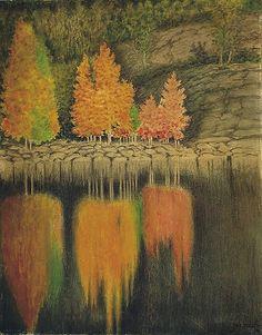 Theodor Kittelsen The Aspen Bleed, Fine høstfarger til RH Aspen, A4 Poster, Poster Prints, Art Prints, Illustrations, Illustration Art, Art Nouveau, Most Popular Artists, Digital Museum