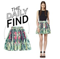 """""""The Daily Find: Reiss Gathered Skirt"""" by polyvore-editorial ❤ liked on Polyvore"""
