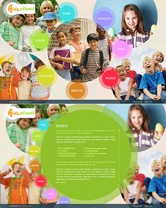 Template 35456 - Kids Planet SWiSH Website Template