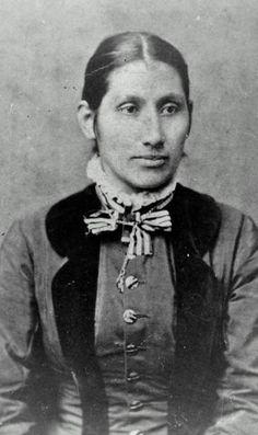 Virginia Rosalie Bridger-Wachsmann, (the daughter of Jim Bridger & the Ute woman known as Chipta Virginia Bridger, and the wife of Albert Wachsmann) - EuroAmerican/Ute - 1875