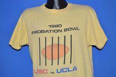 c8d9dc9823db3 80s Probation Bowl 1980 USC Vs UCLA t-shirt Large