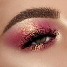 Makeup Eye Looks, Eye Makeup Art, Pink Makeup, Pretty Makeup, Makeup Inspo, Eyeshadow Makeup, Makeup Inspiration, Eyeshadow Palette, Eyeliner
