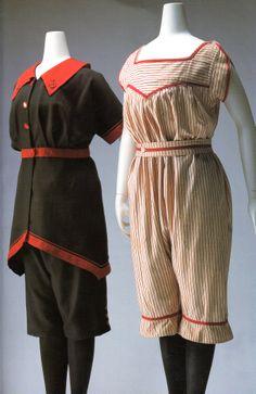 Rudolf Leen costume de bain 1900 1910 Vestidos Vintage, Vintage Gowns, Vintage Outfits, Vintage Clothing, 1900s Fashion, Edwardian Fashion, Vintage Fashion, Historical Costume, Historical Clothing