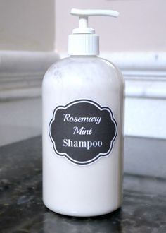 All Natural Rosemary Mint Shampoo | wondermomwannabe.com