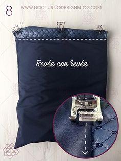 Tutorial de costura: Tula en acolchado. – Nocturno Design Blog Elegante Y Chic, Design Blog, Petunias, Lunch Box, Bags, Fashion, Fashion Handbags, Couture Facile, Clothing