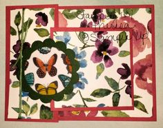 Trifold card with Painted Blooms
