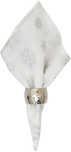 C & F Home Silver Snowflakes Napkins (Set of 6)