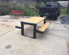 Steel Picnic Table by Scottswelding on Etsy