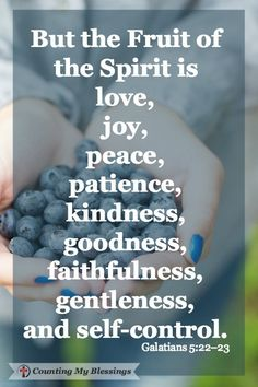 What could happen if you made a decision to care for your relationships with the Fruit of the Spirit - with love, joy, peace, patience, kindness, etc?