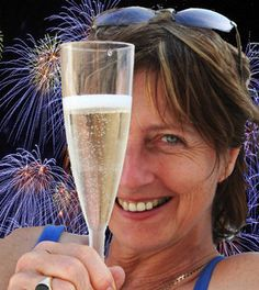With a glass of champagne and fireworks - of course it was Happy Times!