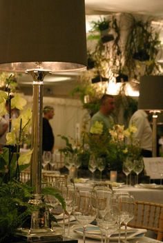 Adding modern style to natural beauty at the Chelsea Flower Show Cordless Table Lamps, Chelsea Flower Show, Corinthian, Different Styles, Natural Beauty, Events, Table Decorations, Lighting, Modern